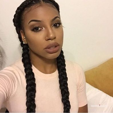 2 Goddess braid hairstyle - Inspired Beauty