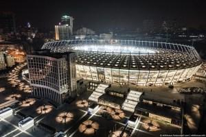 Стадіон НСК Олімпійський вночі