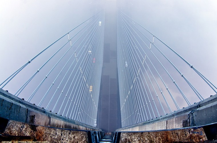 Туманний Київ з Південного мосту