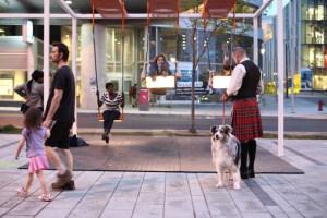 Музично-світлові гойдалки на вулицях Монреаля