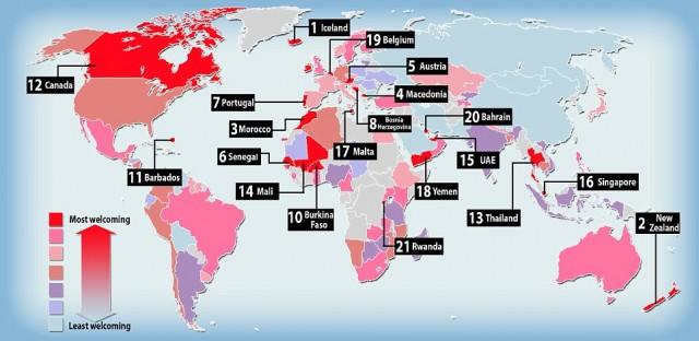 10 найпривітніших країн світу