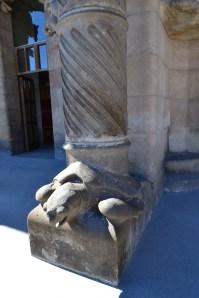 Turtle under a pillar