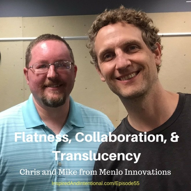 Chris Hutchins and Mike Scoboria, Menlo Innovations' Developers