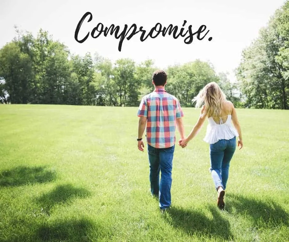 compromise marraige spouse budget by inspiredbudget.com