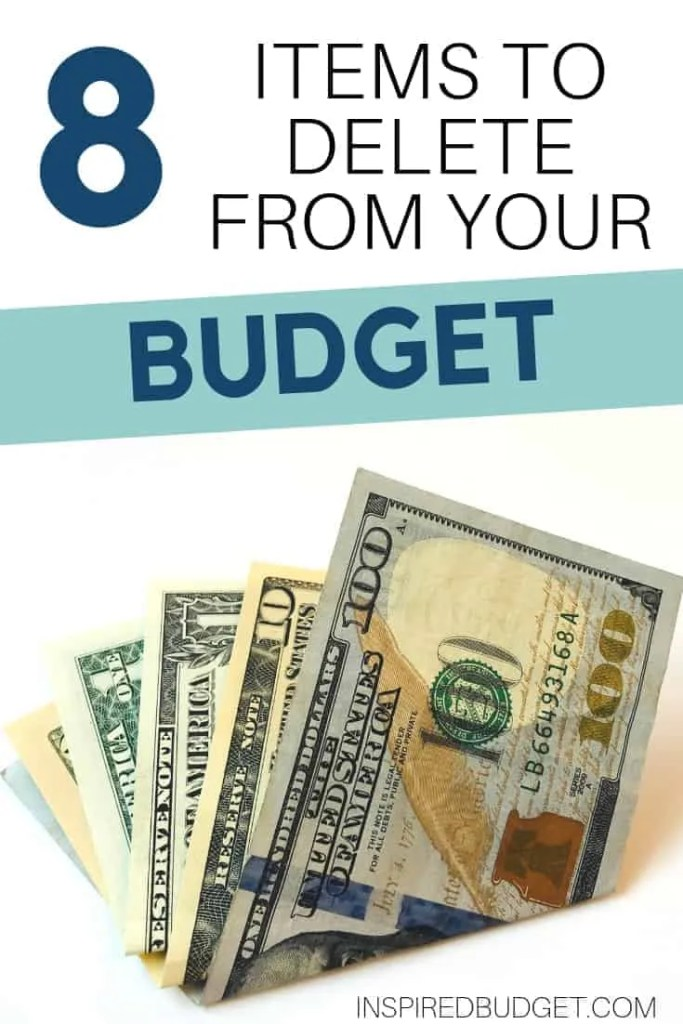 8 Items To Cut From Your Budget Today by InspiredBudget.com