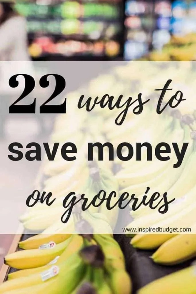 save money at the grocery store by inspiredbudget.com