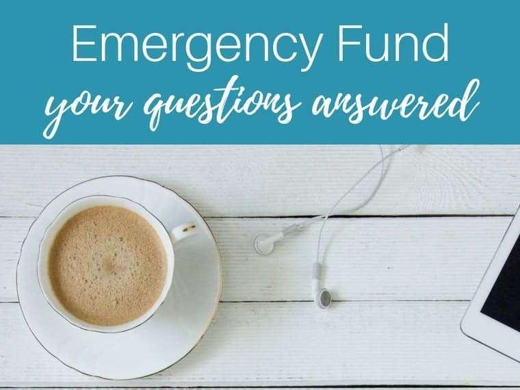 emergency fund by inspiredbudget.com