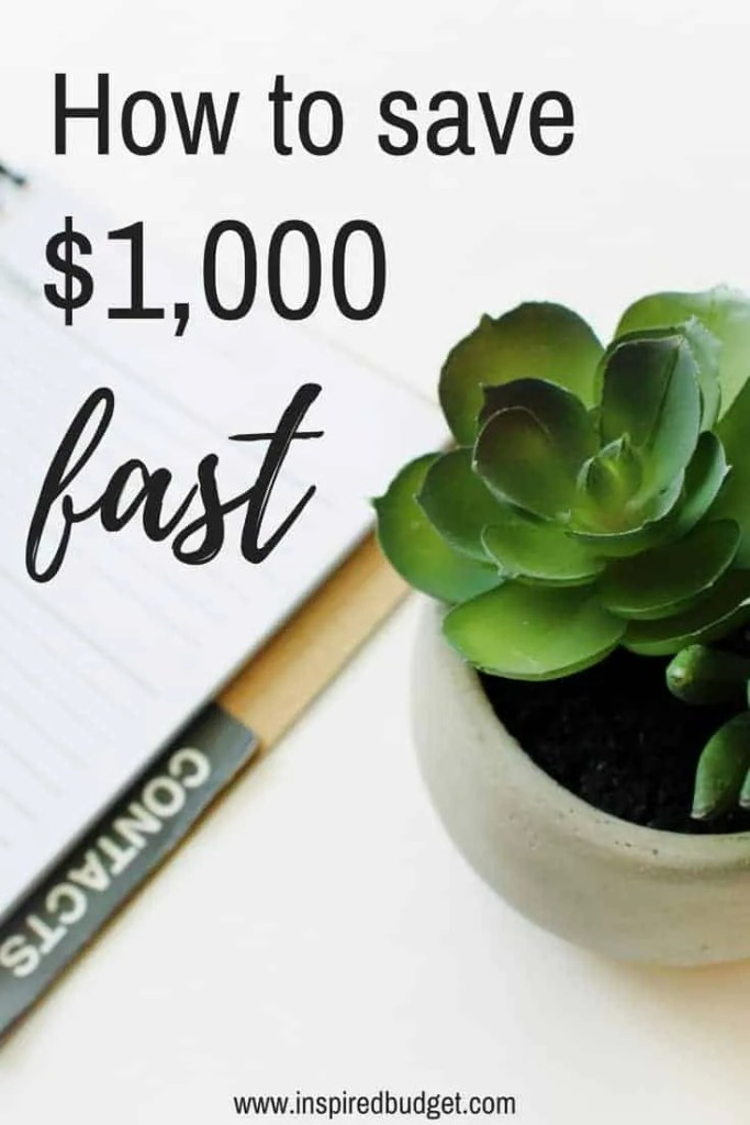 save $1,000 fast