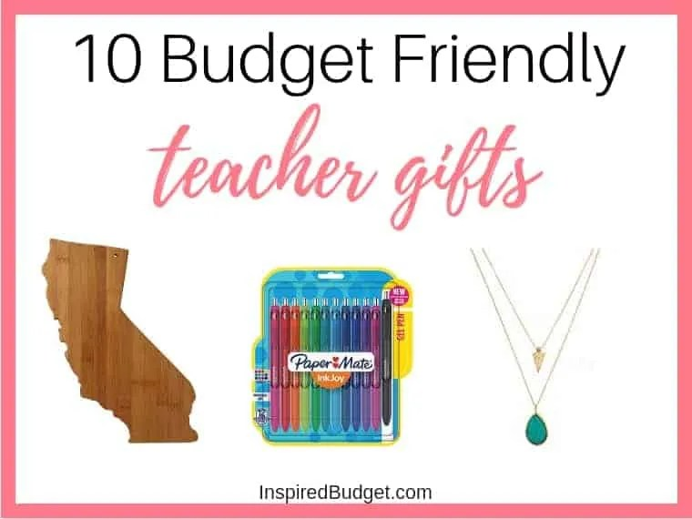 Teacher Gifts Budget Friendly by InspiredBudget.com