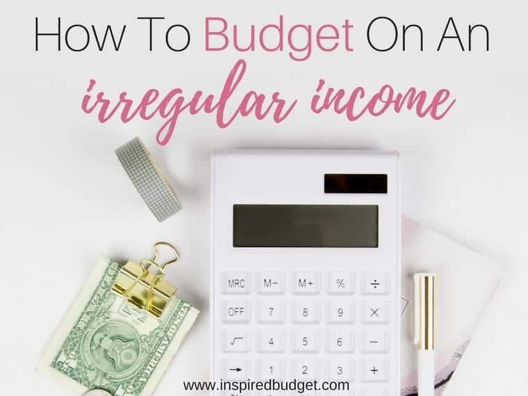 irregular income budget by inspiredbudget.com