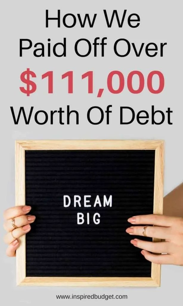 pay off debt story by www.inspiredbudget.com