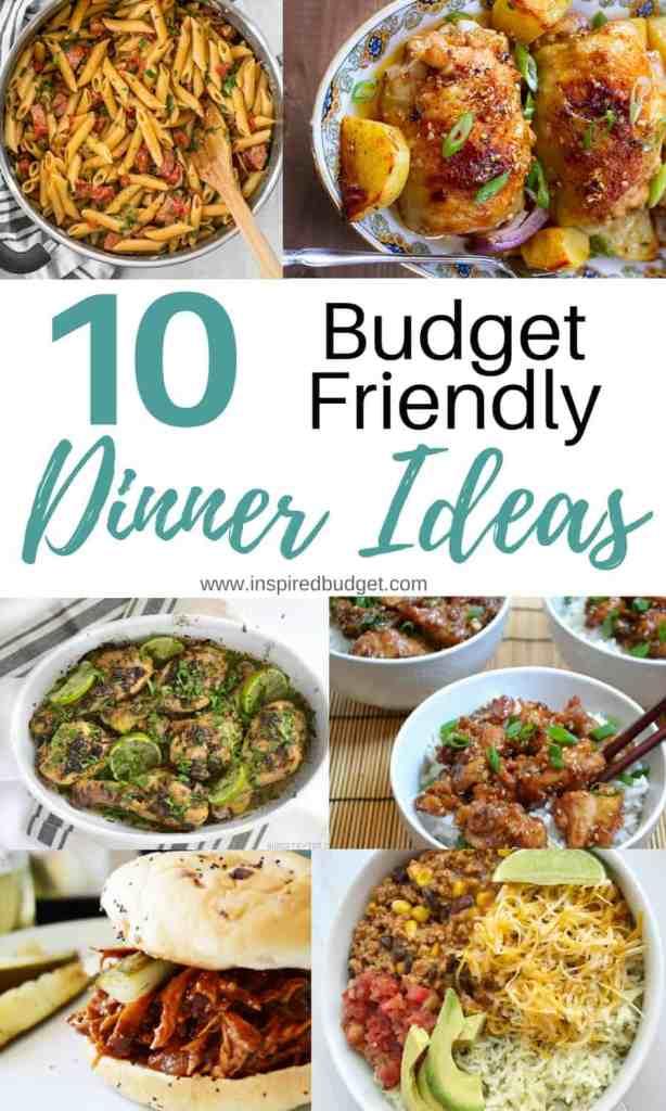 budget dinner ideas by www.inspiredbudget.com