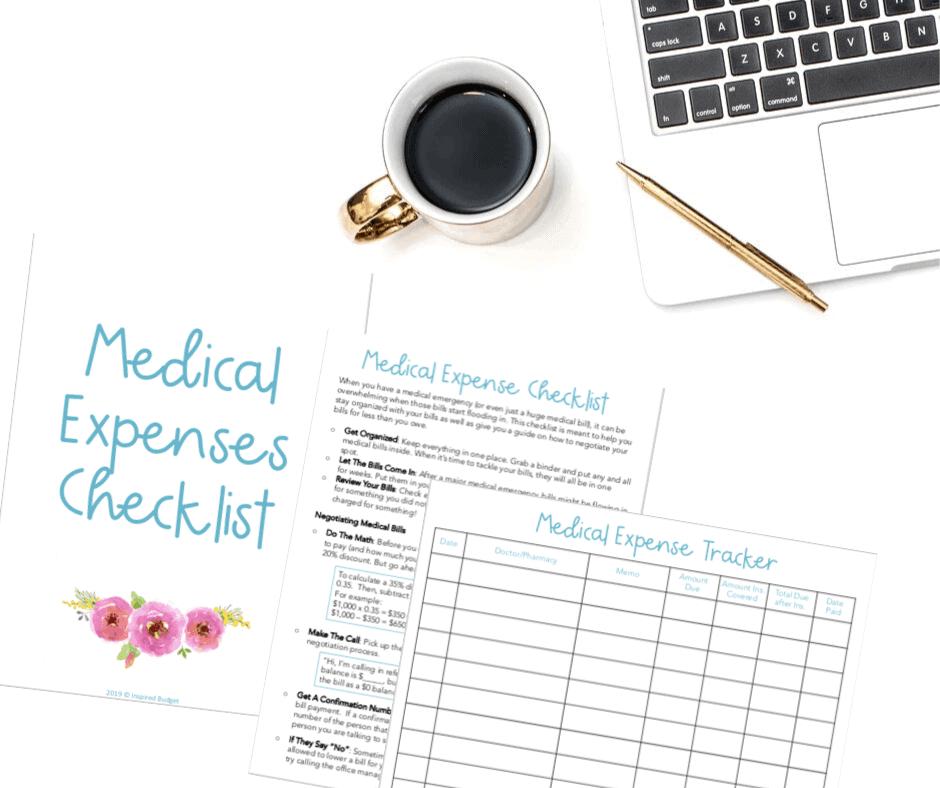 Medical Expense Tracker by InspiredBudget.com