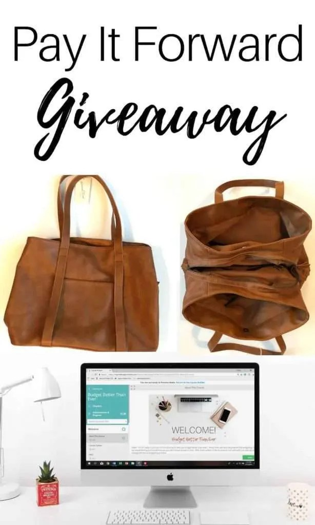 Pay It Forward Giveaway by InspiredBudget.com