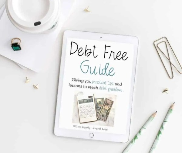 Debt Free Guide by Inspired Budget
