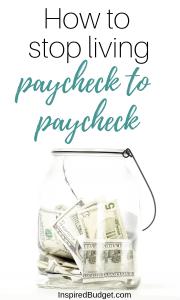 Paycheck to Paycheck by InspiredBudget.com