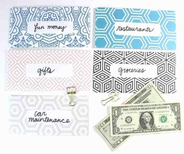 Geometric Shapes Cash Envelopes by InspiredBudget.com
