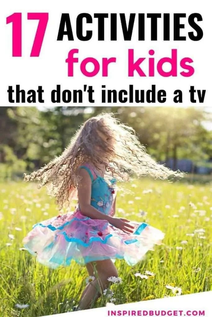Screen Free Activities For Kids by InspiredBudget.com