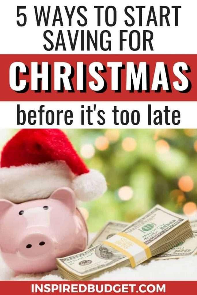 5 Ways To Save For Christmas by InspiredBudget.com