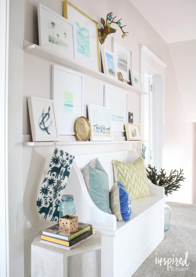 Easy Gallery Wall Picture Ledges Shelving Ideas Decor Woodworking Projects