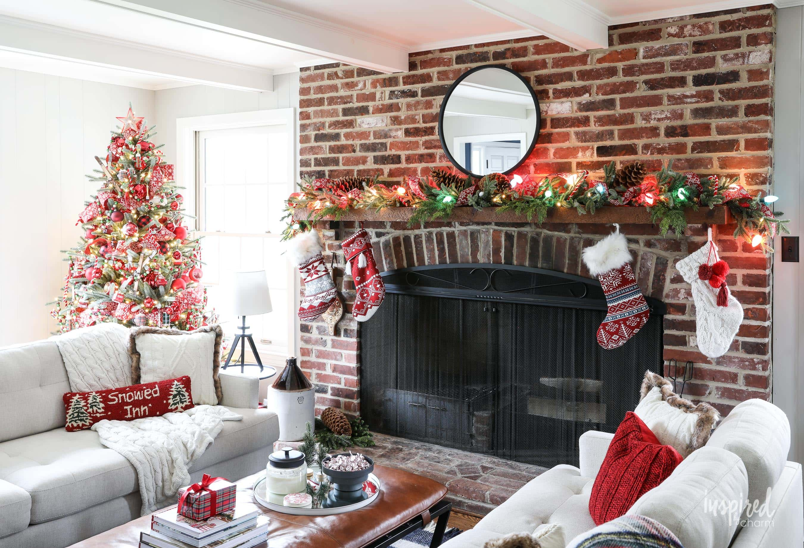Family Room Christmas Decoration Ideas Holiday Decor Tips