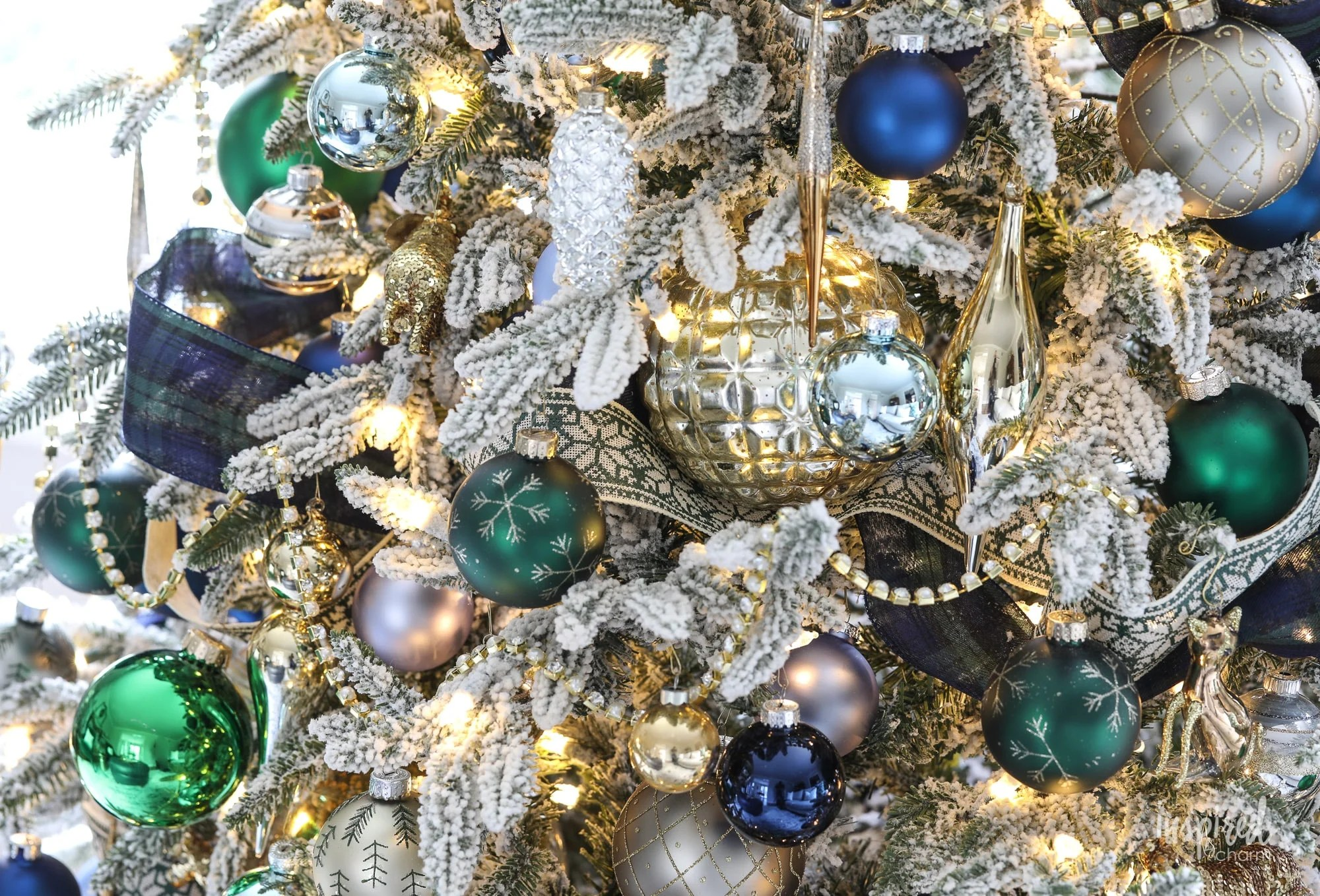 Navy And Green Christmas Tree