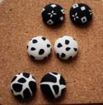 18mm Fabric Stud Earrings