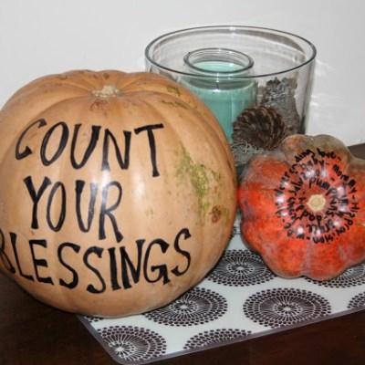 Thanksgiving Family Tradition Ideas & Thankful Pumpkin Activity
