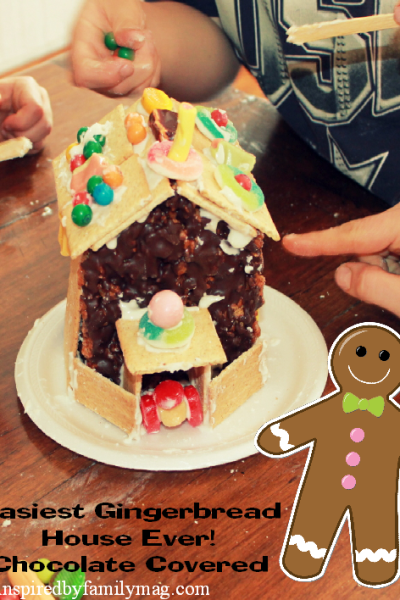Chocolate Covered Rice Krispy Gingerbread House