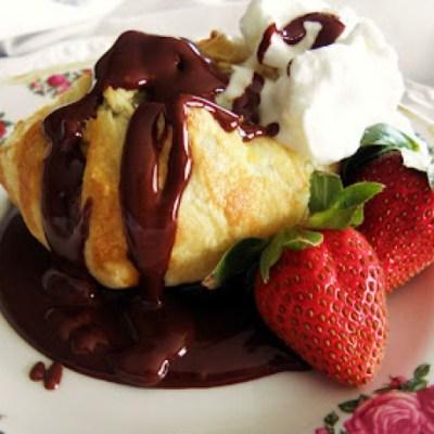 Chocolate Bundles with Ganache