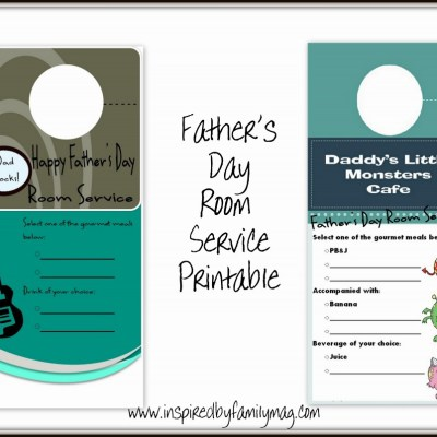Father's Day Room Service Printables
