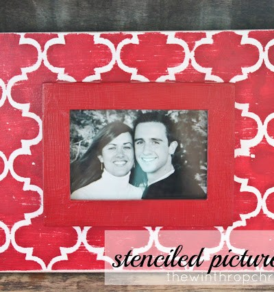 DIY Stenciled Picture Frame