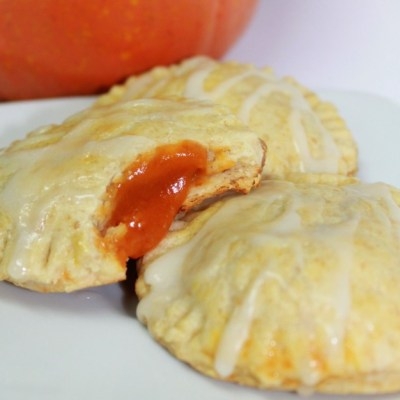 Pumpkin Pie Pop Tarts with Caramel Glaze