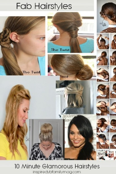 8 Fabulous Hairstyles that Take Less Than 10 Minutes