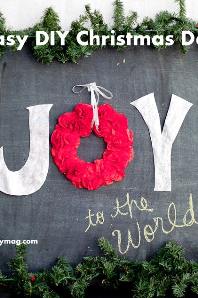 Joy To the World Chalkboard Wall Decor