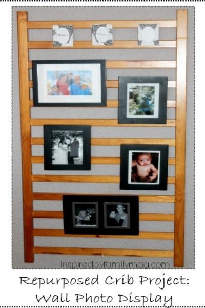 Repurposed Crib Project: Photo Wall Display