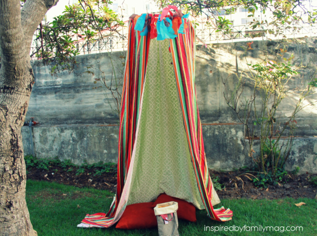 DIY Play Tent Fort {no-sew}
