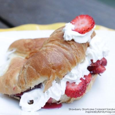 Easy Strawberry Shortcake Croissant Sandwich (with a secret ingredient)