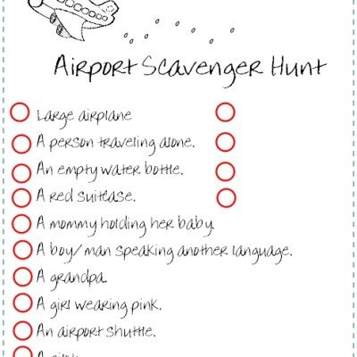 Traveling with Kids: Traveling Scavenger Hunt
