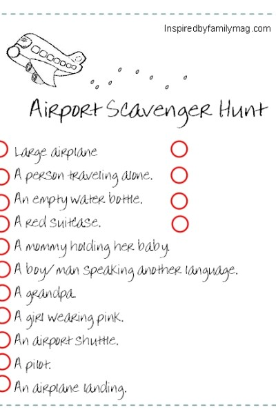 Traveling with Kids: Traveling Scavenger Hunt