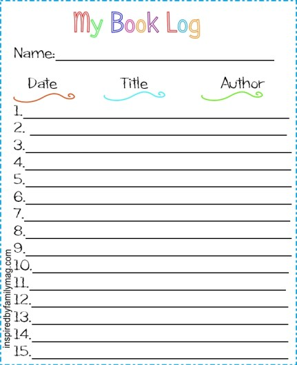 my book log