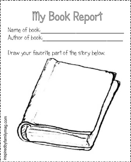 my book report blank form