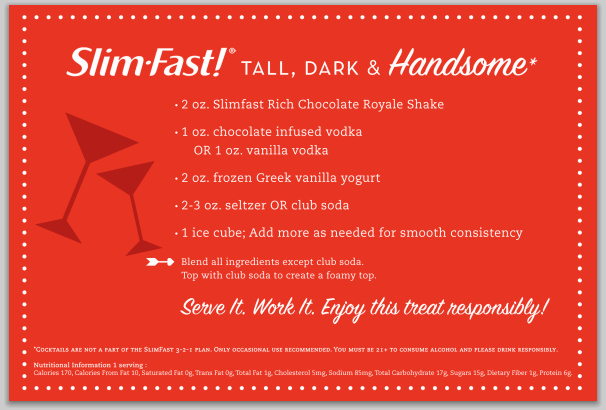 Tall, Dark and handsome mocktail