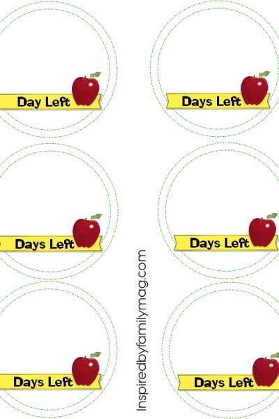 Back to School Countdown Printable {free}