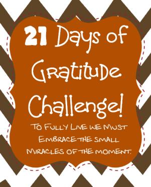 21 days of gratitude challenge