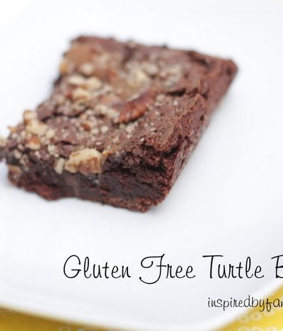 Amazing Gluten Free Turtle Brownies