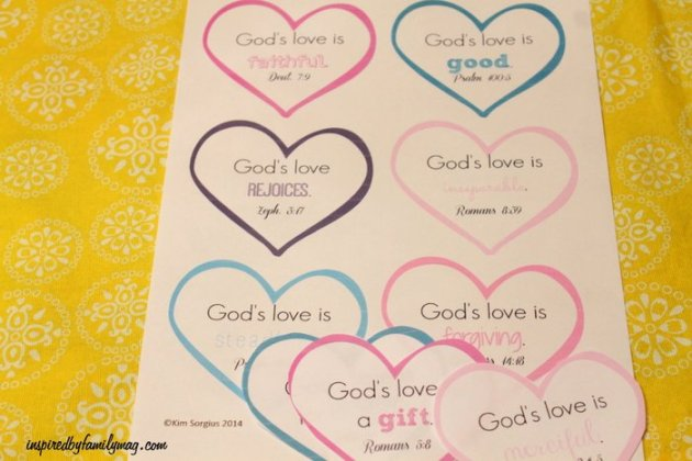 Valentines day scripture hearts