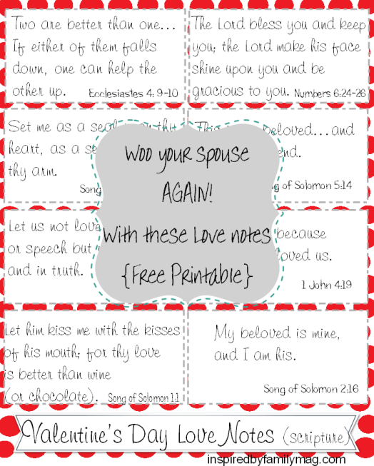Valentine's day love notes scripture
