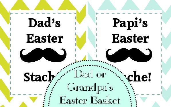 Easter Basket Gift Idea: Dad's Easter Stache