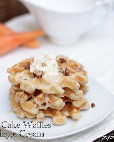 Easy Carrot Cake Waffles Recipe